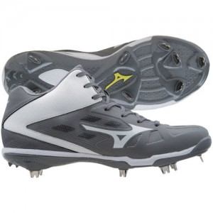 Mizuno Men's Heist IQ Mid Metal Baseball Cleat Szare