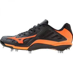 Mizuno Men's Heist IQ MX Low Metal Baseball Cleat (POMARAŃCZOWE)