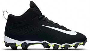 Nike Men's Alpha Menace Shark Low Football Cleats - Black/White