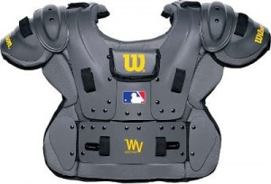 Wilson Pro Platinum Chest Protector in Gray - Size: 12""