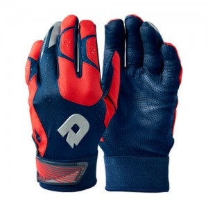 Adult DeMarini CF Batting Glove Navy/Scarlet